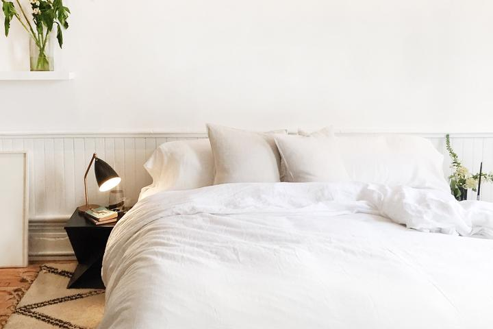 white terry organic cotton bedding