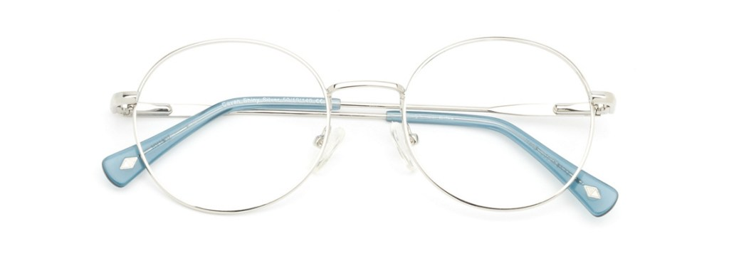 Eyeglasses Frames for Women Main and Central Cavan Shiny Silver Clearly.ca