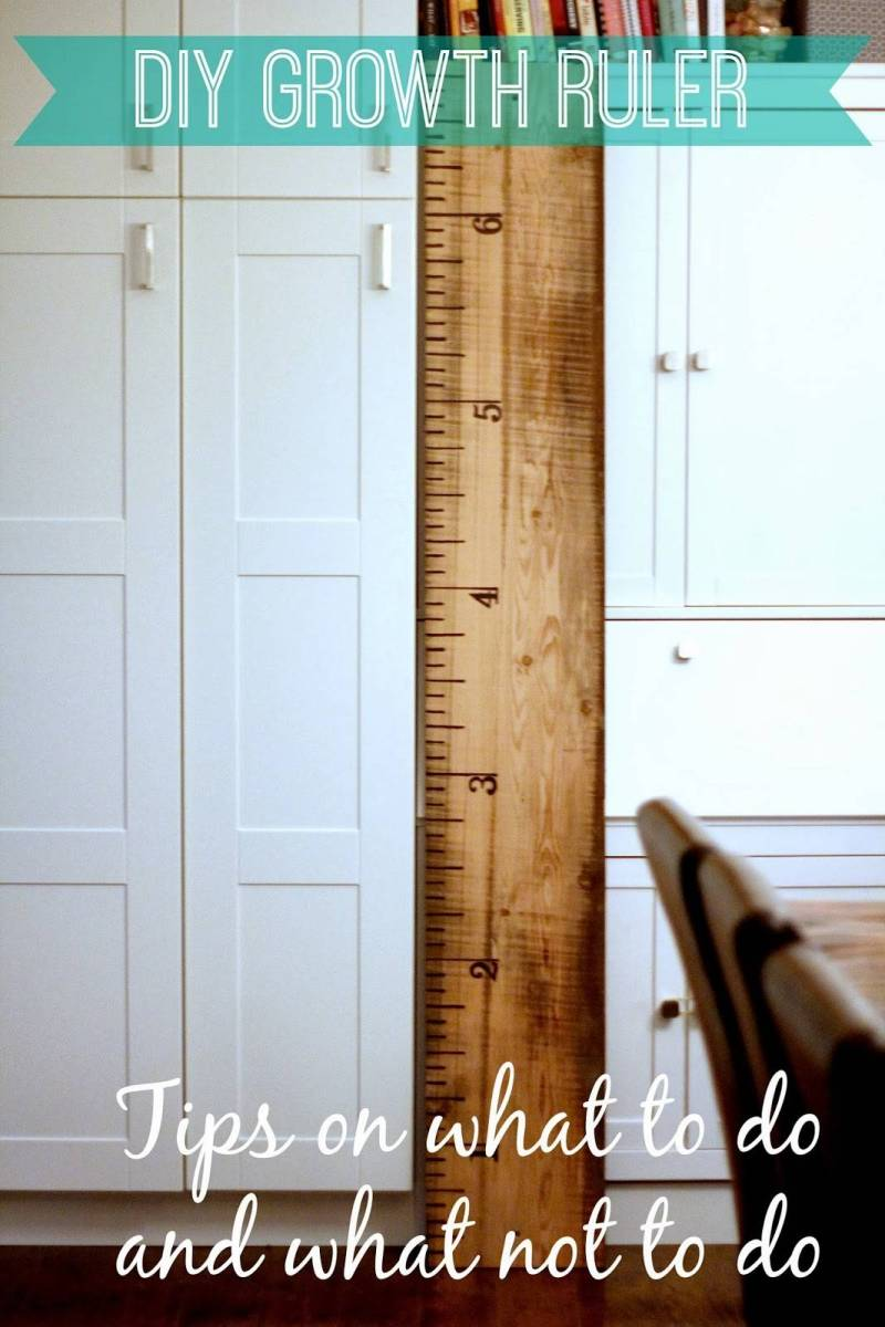 DIY Growth Ruler {Tips on what to do, and what not to do}