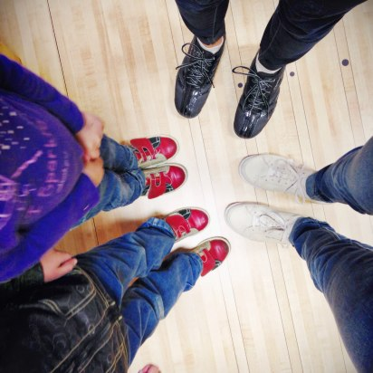 bowling with the kids