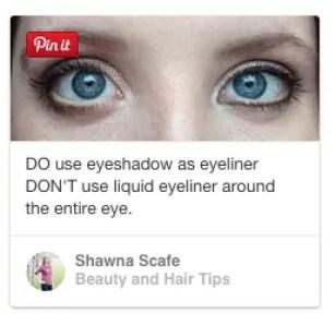 pinterest eyeshadow as eyeliner