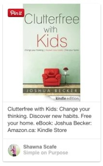 clutterfree with kids by joshua becker