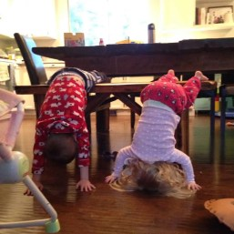 headstands and pjs