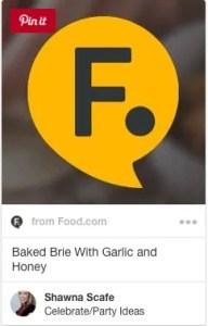 bake brie with honey garlic butter