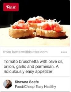 simple easy tomato bruschetta