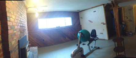 renovating a basement to a modern rec room