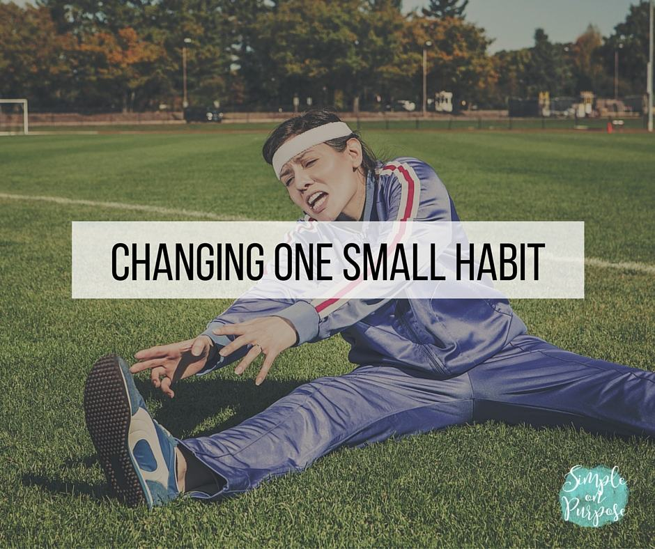 The #onesmallhabit Challenge, Will You Join Me?