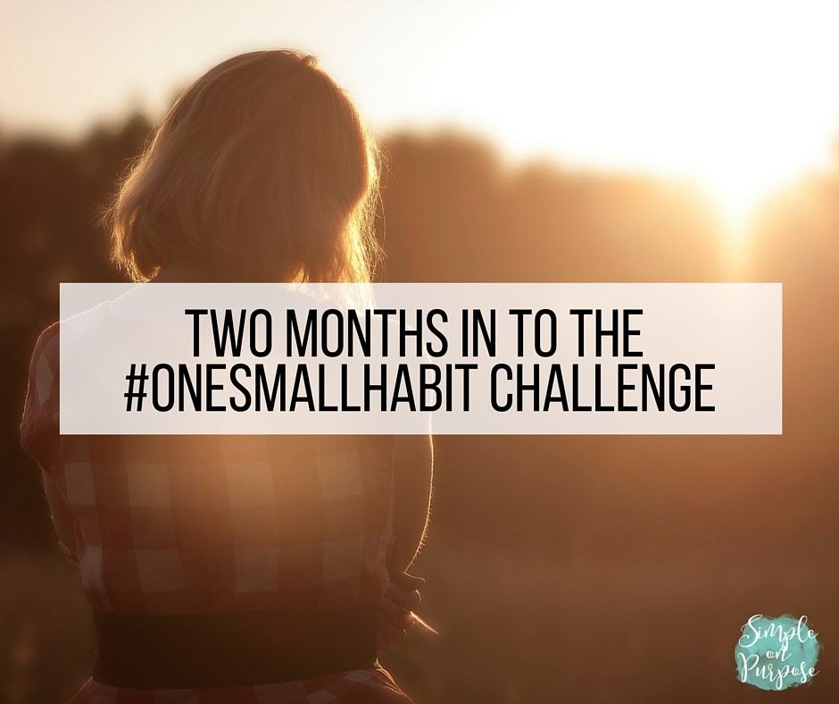 Two Months In To The #onesmallhabit Challenge