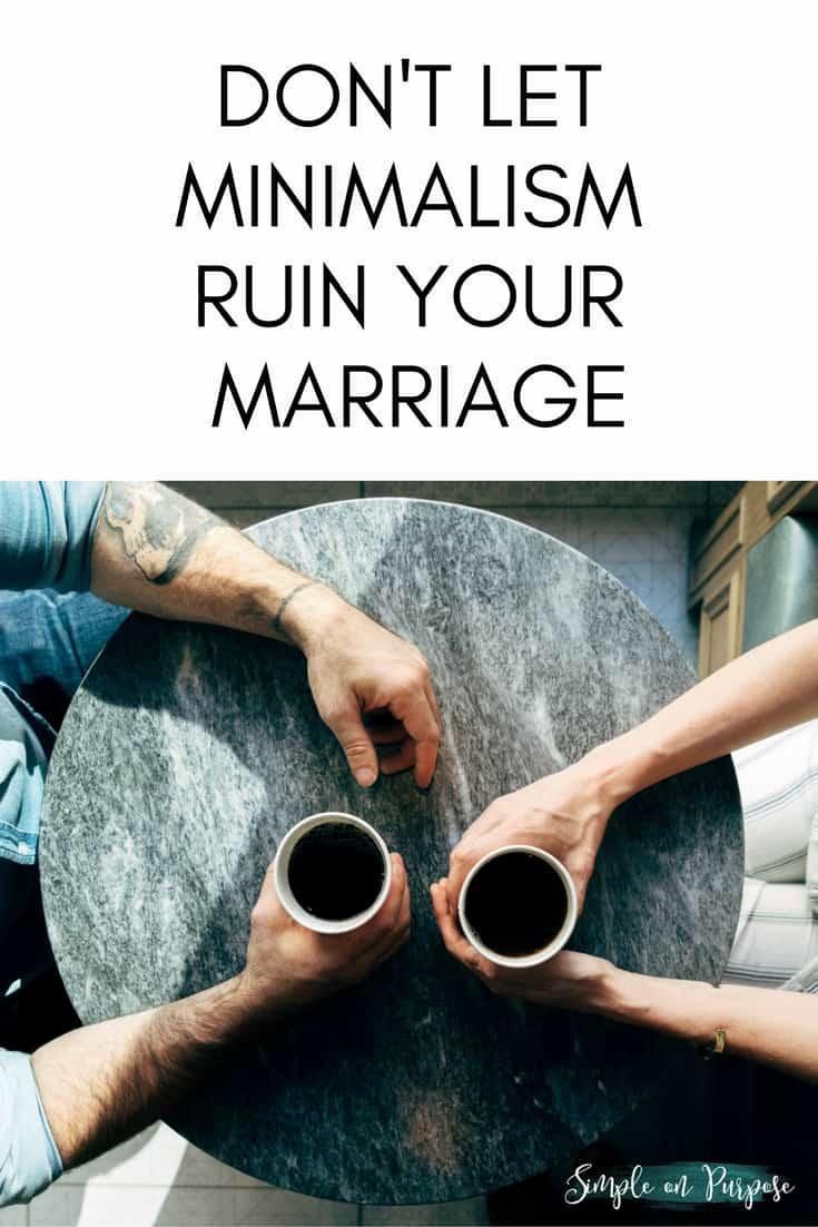 minimalism marriage tips