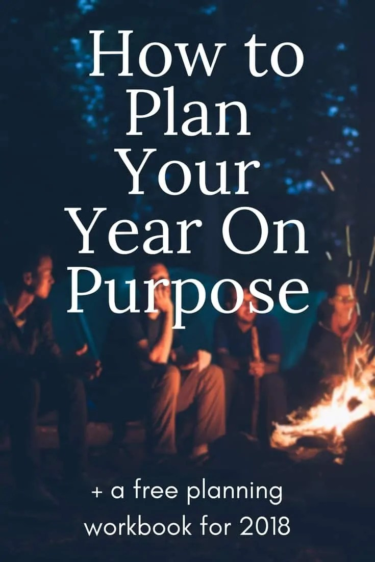 How to Plan Your Year On Purpose (+ free workbook)