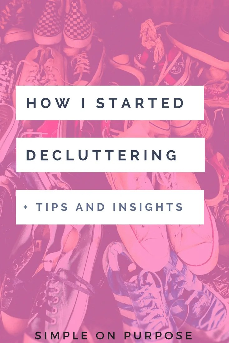 how i started decluttering tips