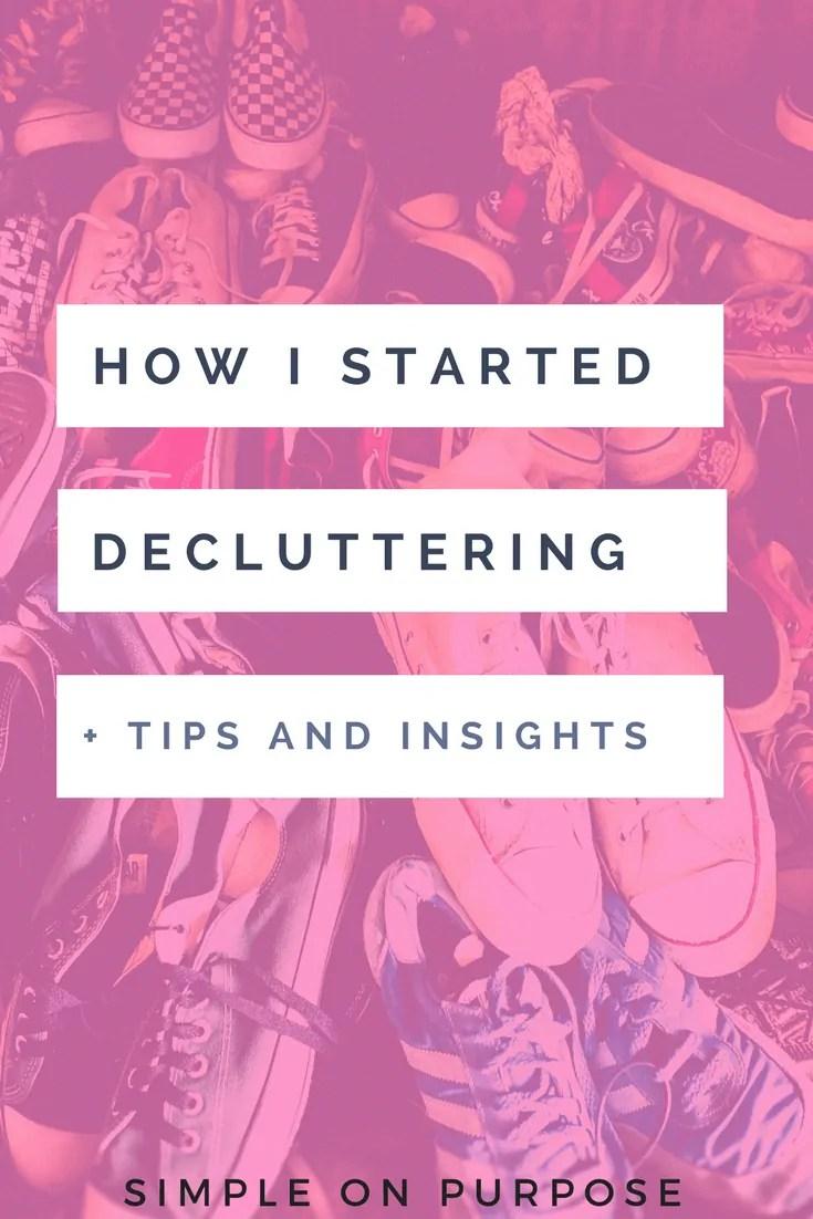 how i started decluttering tips