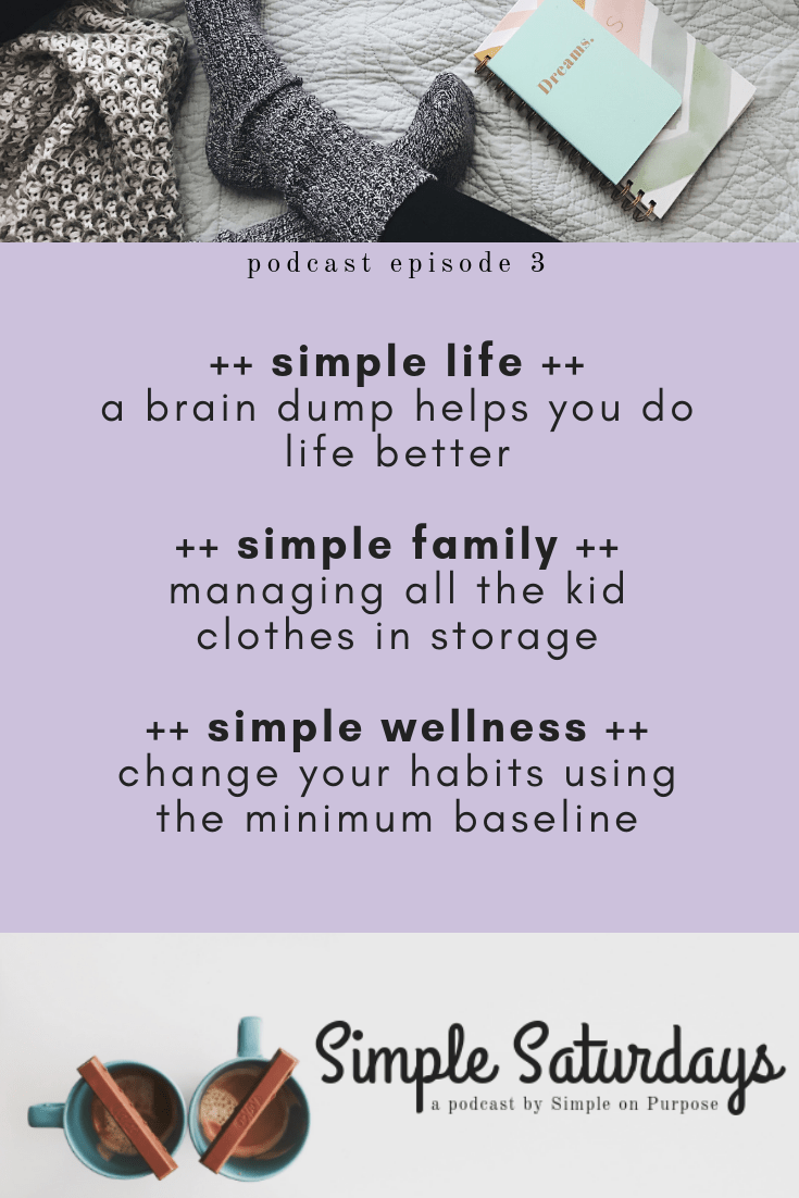 simple saturdays 3 podcast for moms to declutter and live with passion
