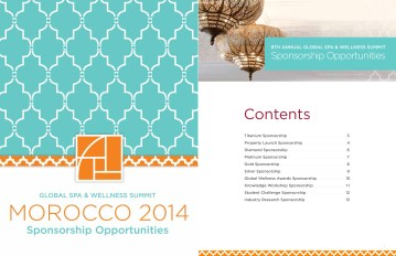 Sponsorship Brochure Cover and Sample Page