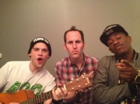 Chuck hanging out with MKTO and Joey from Kew Kids On The Block 1