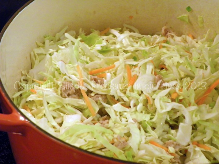 Add coleslaw mix,