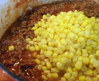 Stir in corn and the rest of the seasonings