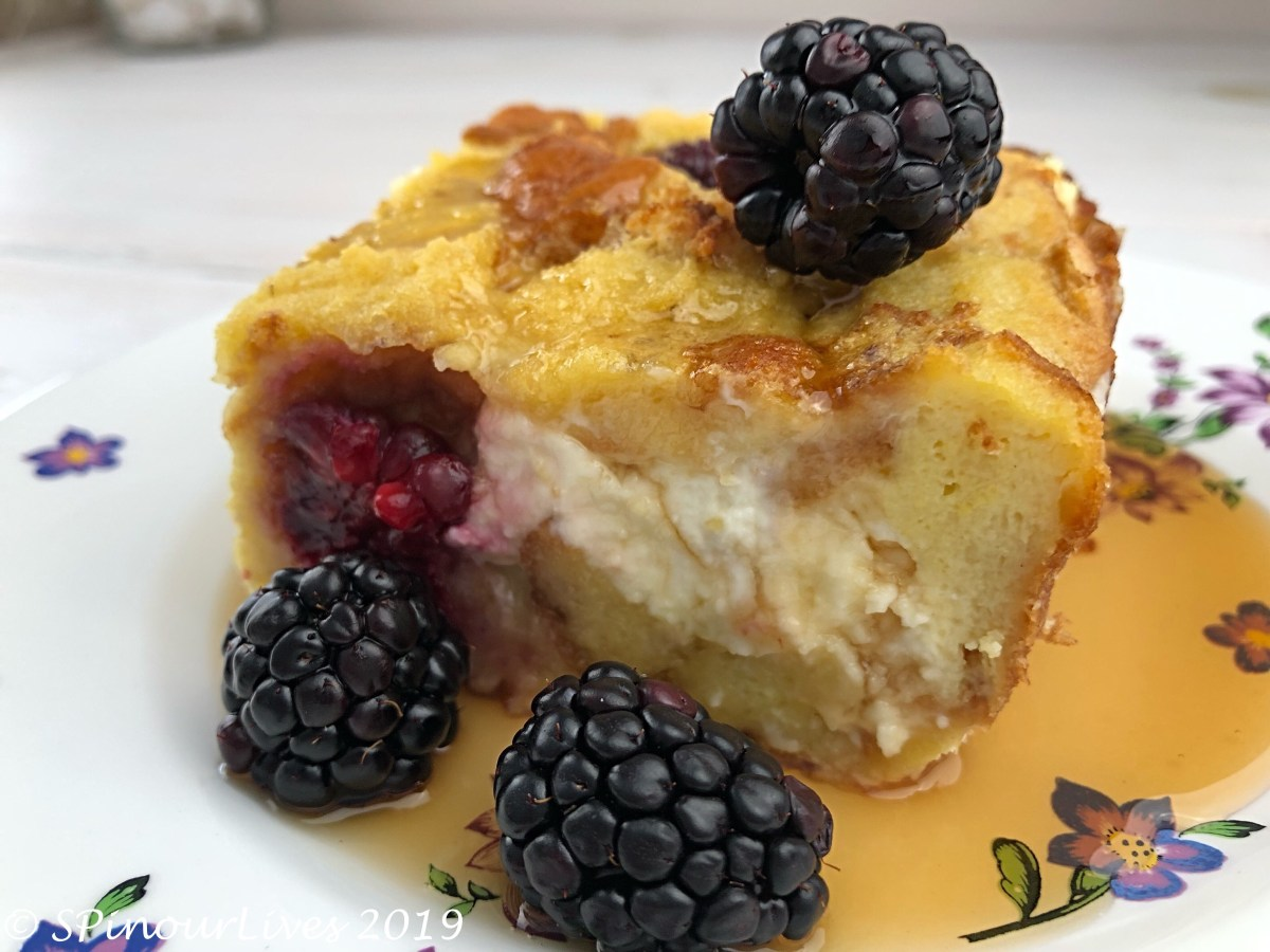 Blackberry and Cream Cheese French Toast Casserole