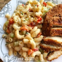 Macaroni Salad and Fried Chicken