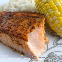 Salmon with Penzeys Jerk Chicken and Fish Seasoning