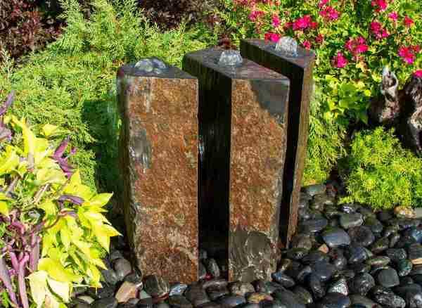 Basalt fountain kit 24 triple split polished 3 piece