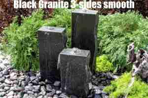 black granite 3 sides smooth