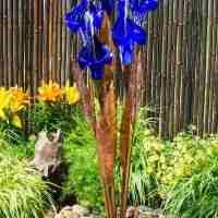 blue iris flower fountain kit