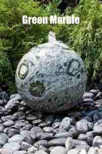 green marble sphere