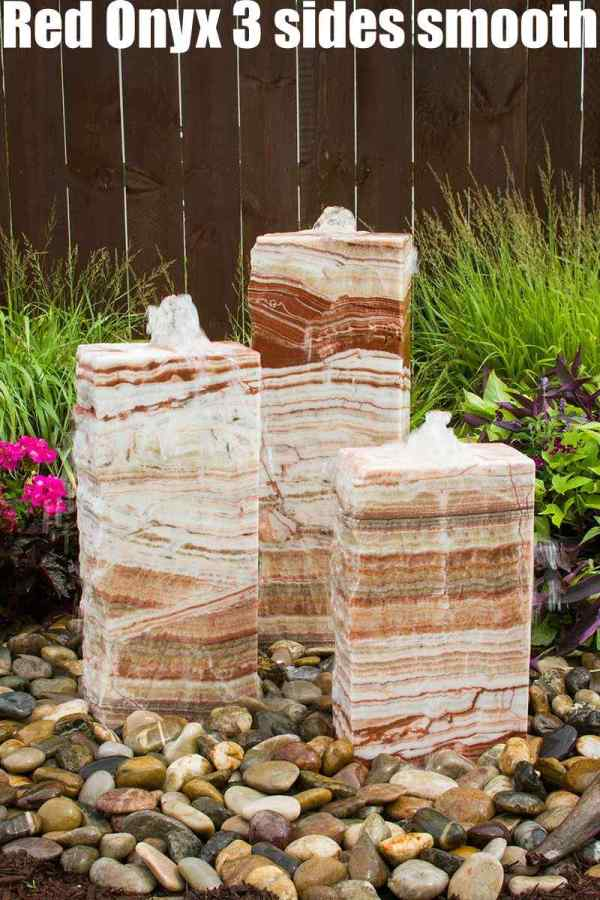 red onyx 3 sides smooth