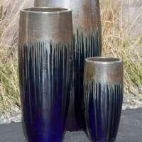 tivoli medium gold blue bleed vase fountain