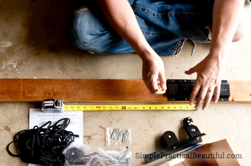 Mark the measurement onto the 2X4