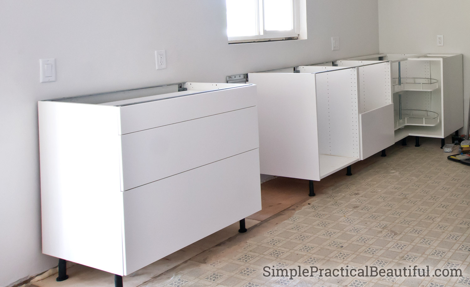 kitchen cabinet ikea cabinets rta how to assemble an sektion base simple