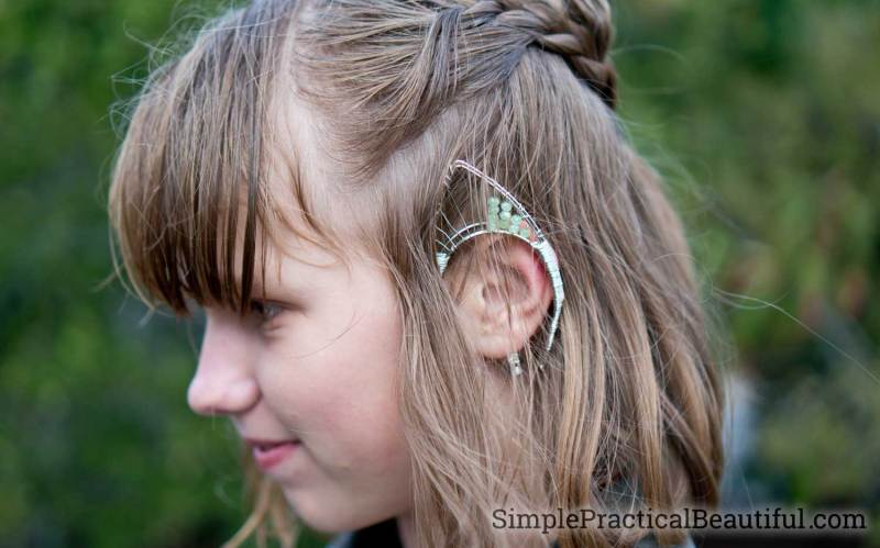 Elf ear jewelry for lotr costumes and cosplay