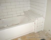 Bathtub tile surrounds