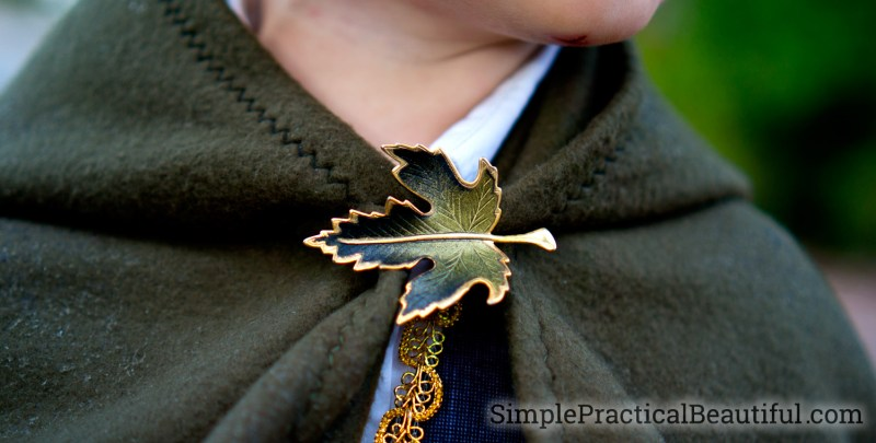 An elvish cloak clasp for the Frodo costume