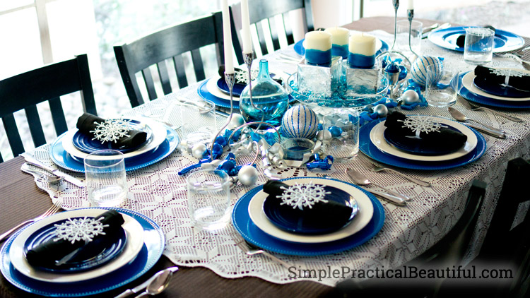 A Winter Tablescape
