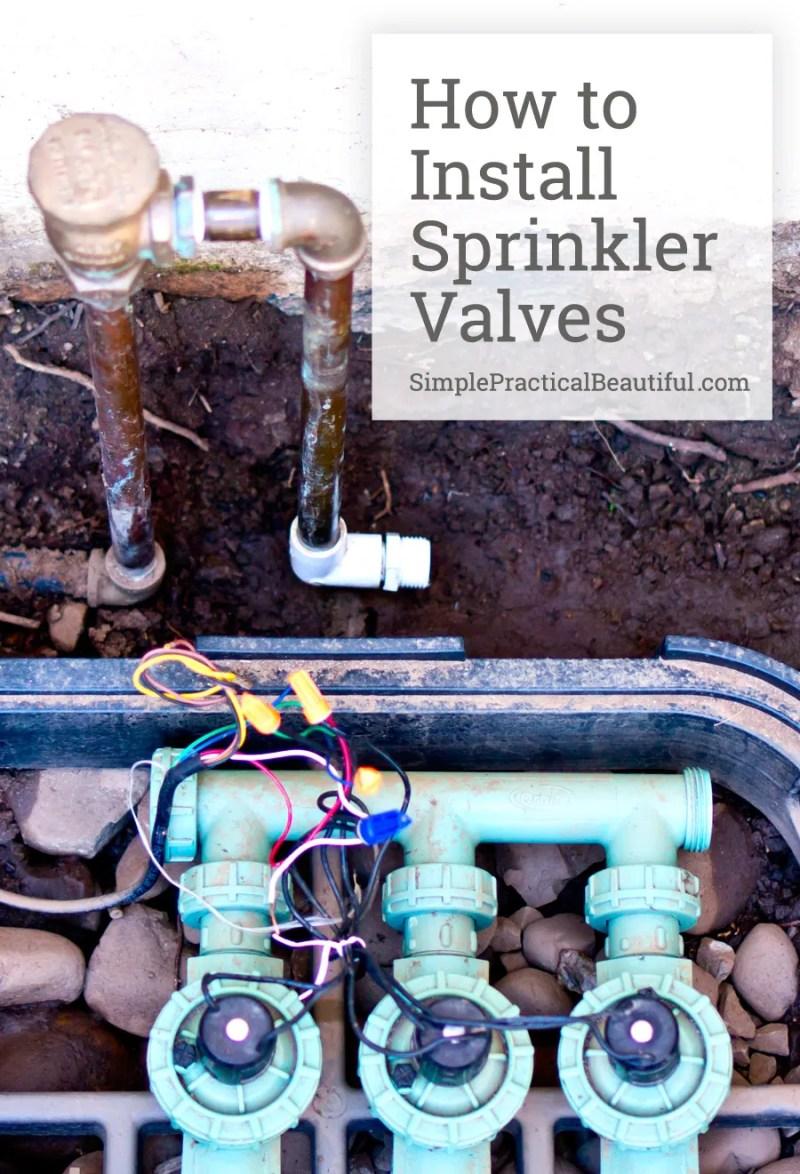 How to DIY installing valves for a sprinkler system and landscaping irrigation