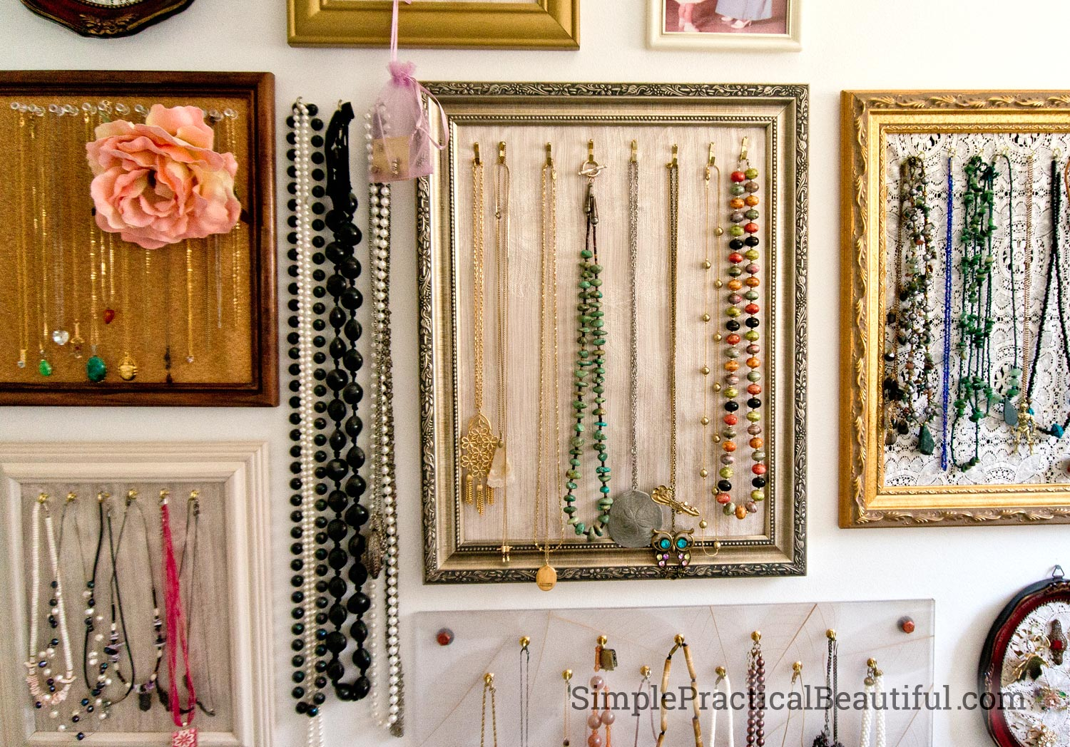 Gallery Wall Jewelry Display Simple Practical Beautiful