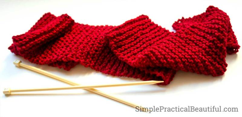 Knitting a red scarf for Amy Pond, the girl who waited