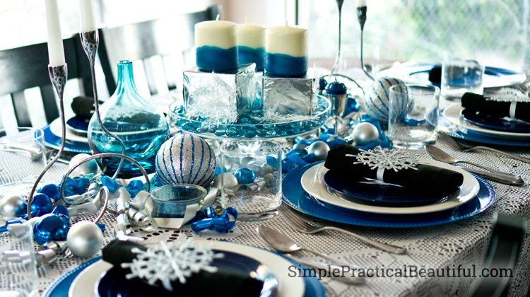 Setting a Holiday Table & A Winter Holiday Tablescape - Simple Practical Beautiful