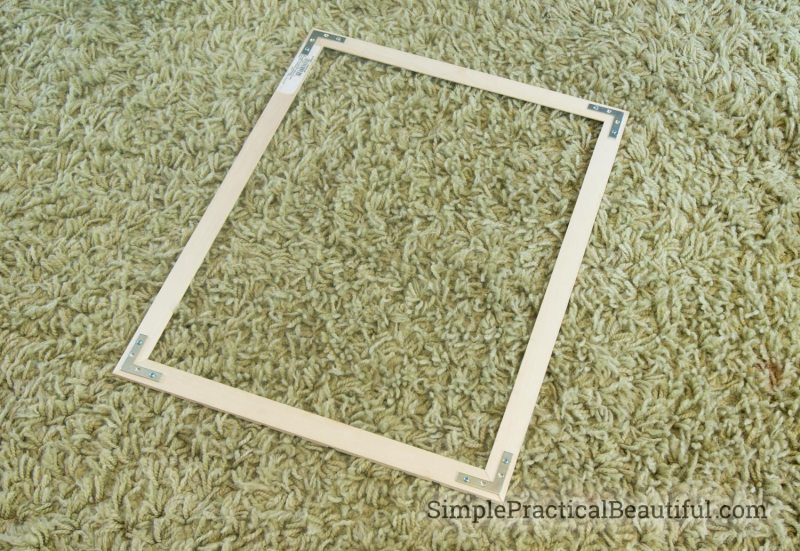 back of the DIY frame