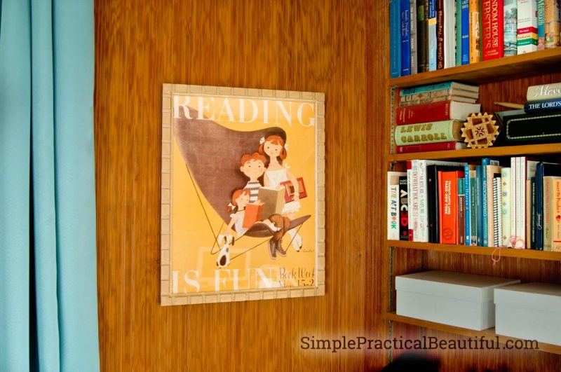 DIY frame with bookcase