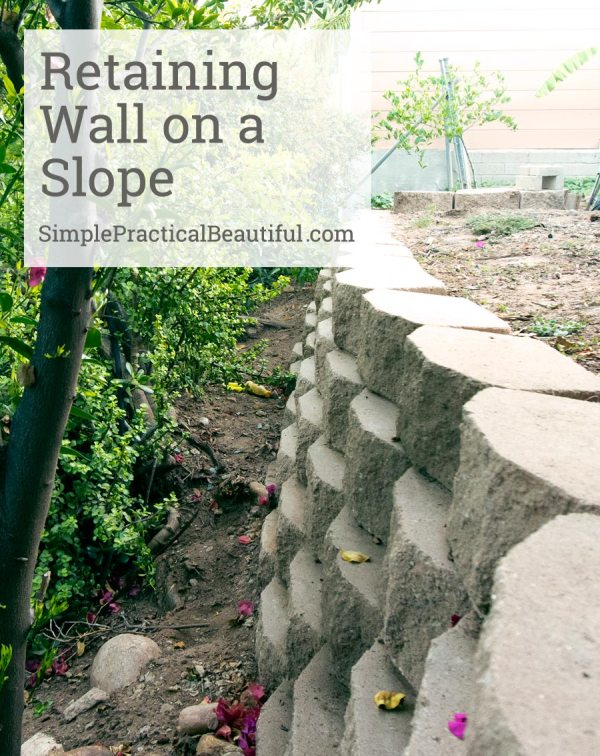 retaining wall slope simple