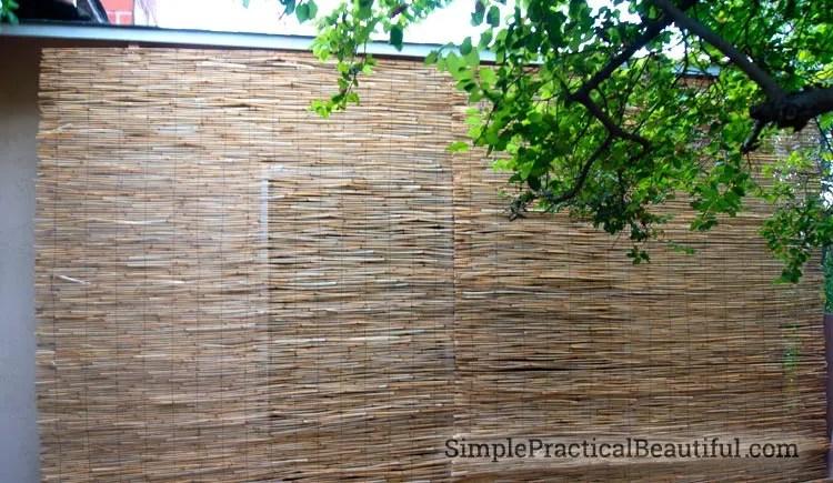 DIY Outdoor Bamboo Shades - Simple Practical Beautiful