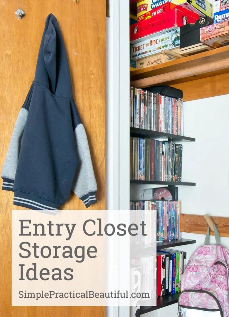 Entry Closet Storage Ideas | SimplePracticalBeautiful.com