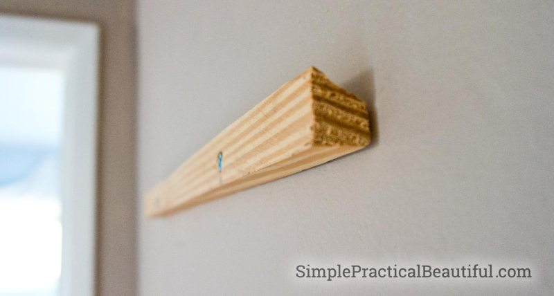 How to hang art with a french cleat   SimplePractialBeautiful.com