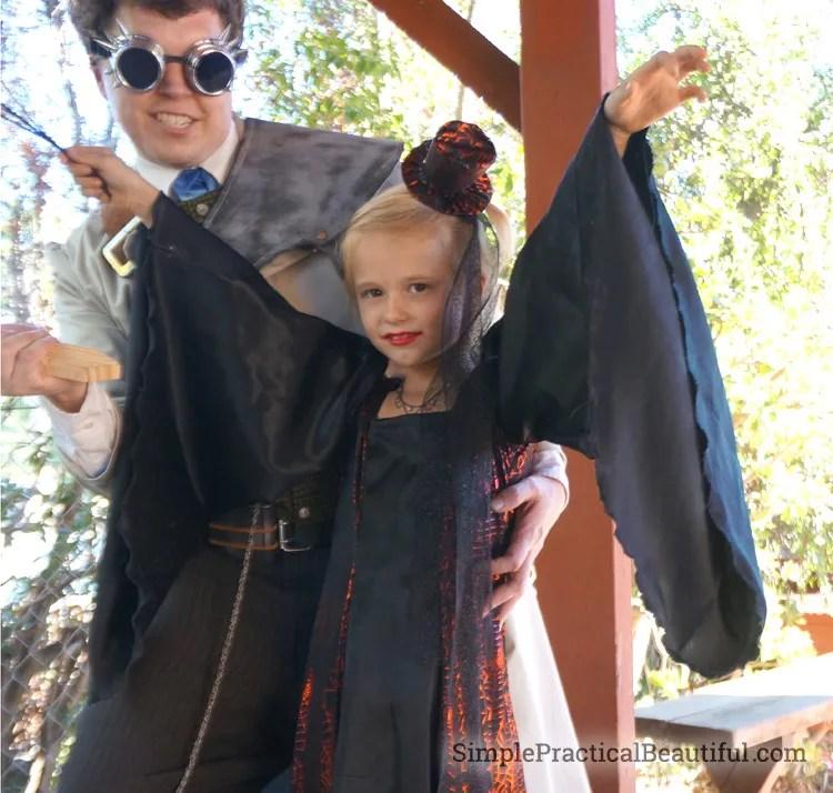 Beautiful DIY vampire princess costume