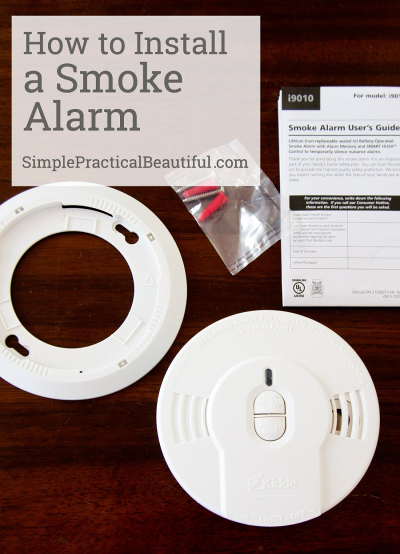 How to install a smoke alarm: it's so easy!