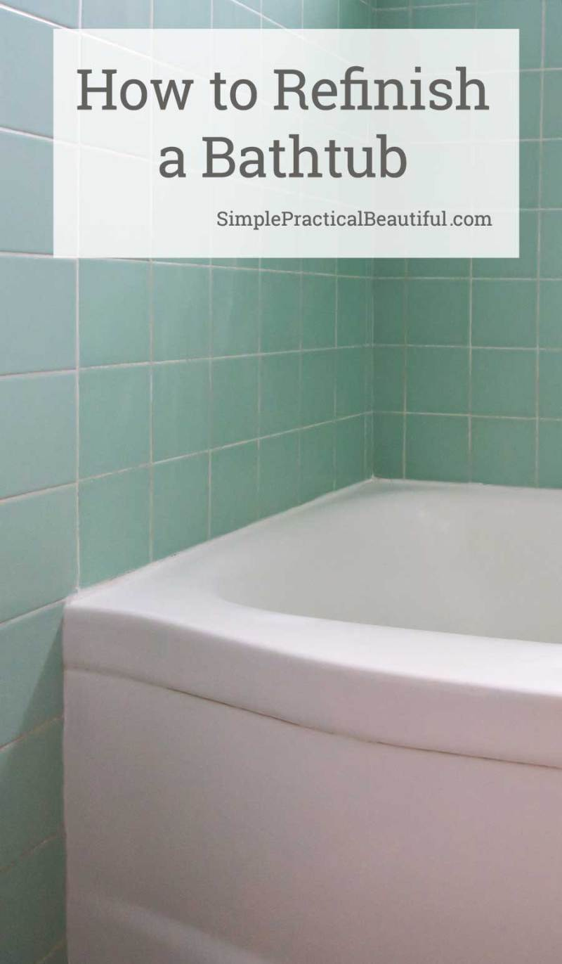 How to refinish a bathtub with Rust'Oleum Tub and Tile | tips for refinishing a bathtub, bathroom sink, or countertop with epoxy