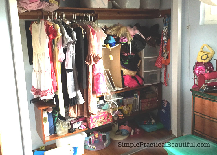 a closet in need of a redesign